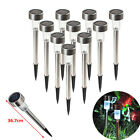20 Pack Outdoor Stainless Steel Led Solar Power Light Lawn Garden Landscape Path