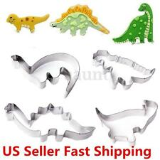 Stainless Steel Dinosaur Cookie Cutter Mold Cake Fondant Biscuit Baking Mould