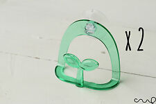 2x Green Kitchen Sponge Holder Sink Drying Rack Bath Wash Clean Suction Cup Dish
