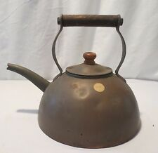 Antique EARLY English Copper Tea Kettle with Wood Handles