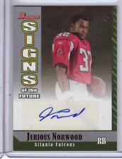 Jerious Norwood AUTOGRAPH RC Atlanta Falcons 2006 Bowman AUTO Football Card