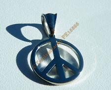 Pendentif Acier Inoxydable Peace And Love Paix et Amour Hippies Croix de Néron