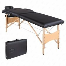 """84""""L Fold Portable Black Massage Table Facial SPA Bed Tattoo W/Free Carry Case"""