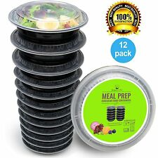 Food Storage Containers Set Kitchen Home Round Meal Box 12 Pack Organization