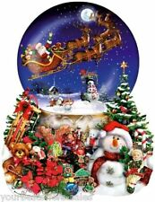Puzzle 1000 Pieces Snow Globe Jigsaw Puzzle Vintage Santa Puzzle Christmas Gifts