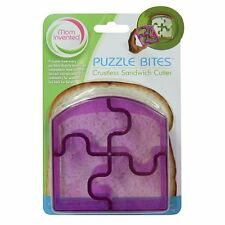 NEW | Ginsey Puzzle Bites Sandwich Cutters Crust Bread - Purple | FREE SHIPPING