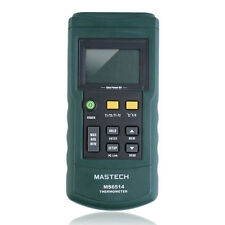 MASTECH MS6514 Dual Channel Digital Thermometer Temperature Logger Tester OY