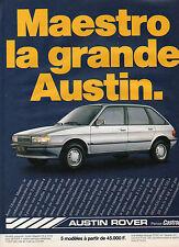 Publicité Advertising 1984  AUSTIN ROVER MAESTRO