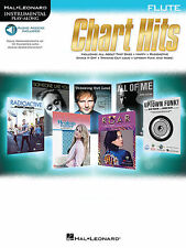 Chart Hits Flute Instrumental Play-Along Book Audio Online NEW 000146207