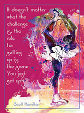Figure Skating JUST GET UP! Scott Hamilton Quote Motivational POSTER Print