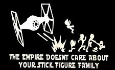 Star Wars Nobody Cares About Your Stick Figure Family Vinyl Window Decal Sticker