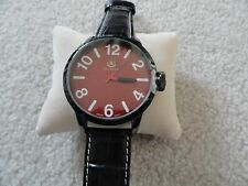 New Louis Richard Quartz Men's BIG Watch - Leather Band