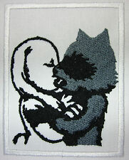 Raccoon kissing Rabbit patch Iron or Sew On Patch