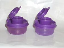 New Tupperware Mini Smidgets Salt and Pepper Shakers Purple