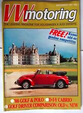 VW AUTOMOBILISMO RIVISTA DEC 1987 (auto, Beetle, Golf, Polo, Cabrio, CAMPER)