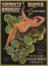 BIANCO ANDREOLI, 1921 Vintage Liquor Advertising Giclee Canvas Print 20x27