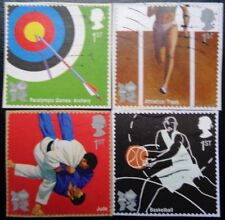 GB 2009 Olympic & Paralympic Games I Used Set of 4 Self Adhesives