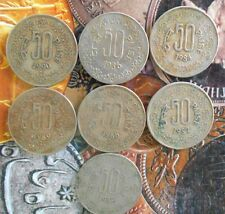 7 pcs YEAR SET - 1984 1985 1986 1987 1988 1989 1990 -  50 Paise Coin - india
