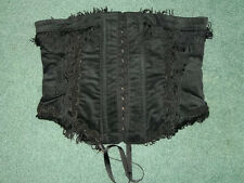NEW RARE LIP SERVICE BLACK TEASE-O-RAMA CINCHER CORSET S GOTHIC PIRATE BURLESQUE