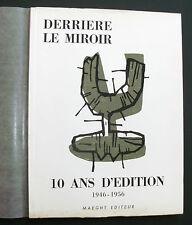 Derriere le miroir 10 ans d 'Edition 1946-1956 Marc Chagall Joan Miro Giacometti