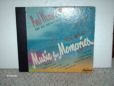 PAUL WESTON & ORCHESTRA -4 RECORD COLLECTION OF 78 RPM'S  - MUSIC FOR MEMORIES)