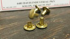 407D Brass Post and Cap Jiffy Rivets