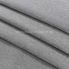 Quality Soft Cotton Feel Weaved Chenille Upholstery Sofa Curtains Silver Fabric