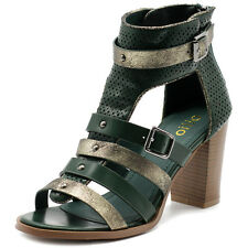 Ollio Womens Shoes Studded Metallic Gladiator Ankle Booties High Heels Sandals