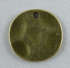 60pcs Bronze Color Coin Charms Pendants 15x1mm 11681