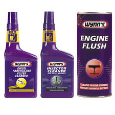 WYNNS 3 PACK DIESEL PARTICULATE FILTER DPF + INJECTOR CLEANER + ENGINE FLUSH
