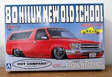 Arii 1980 Toyota Hilux New Old School Low Rider Pick up Truck model kit 1/24