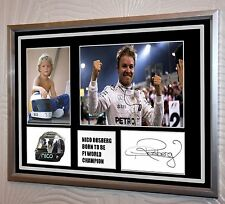"Nico Rosberg World Champion Signed Tribute Silver Framed   ""Great Gift"""