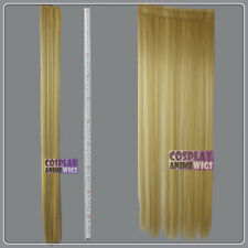 Beige Blonde Hair Weft Extention (3 pieces) - 100cm High Temp - Cosplay 8_086