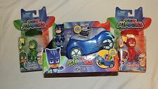 New PJ Masks Catboy Car Lightup Gekko & Owlette Figures 3 Pack Amulet Disney