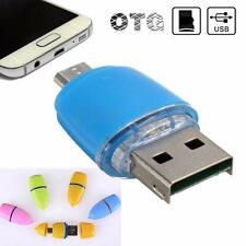 OTG Micro USB to USB 2.0 Micro SD TF Card Reader Adapter For Android Phone Table