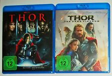 Thor 1 und 2  The Dark Kingdom   Blu Ray NEU Marvel Natalie Portman
