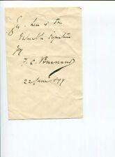 Sir Francis Cowley F. C. Burnand Humorist Writer Victorian Signed Autograph Note