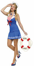 Sexy Sailor Girl Outfit Dress Uniform Costume for Cosplay & Halloween Party New