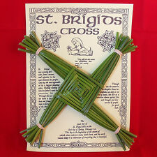 New St Brigids Saint Bridget Cross Handcrafted in Ireland Gaelic Donegal Rushes