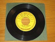 "BLUES 45 RPM - SAMMY LEWIS - SUN 218  ""SO LONG BABY GOODBYE/I FEELED SO WORRIED"""