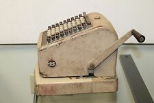 VINTAGE ANTIQUE BURROUGHS protectograph checkwriter No. T74-9 * T74 9 RARE