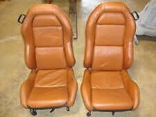 DODGE VIPER 1999-2002 TAN LEATHER FRONT SEATS USED IN GREAT CONDITIONS LH/RH