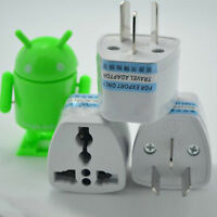 Universal EU UK AU to US USA AC Travel Power Plug Charger Adapter Converter 1x