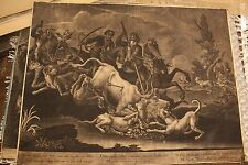 (2) Johann Elias Ridinger engravings - 18th century - Hunting Scenes