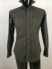 Womens's Green  Blouse  Pearl Snaps  GUESS Medium B#2