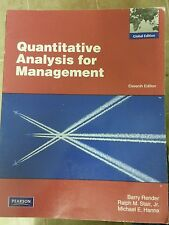 Quantitative Analysis for Management: Global Edition by Barry Render, Ralph...