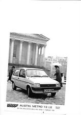 AUSTIN ROVER METRO 1.3 LE PRESS PHOTO 'C' REGISTERED 1986 'BROCHURE' CONNECTED