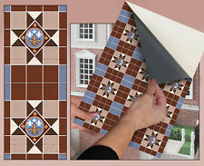 DOLLS HOUSE WALLPAPER No 48 Floor Tile Victorian 1:12 SELF STICK VINYL SEMI MATT