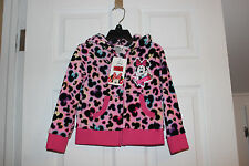 Disney HOODIE ZIPPERED JACKET SZ 4 MINNIE MOUSE PINK FLEECE