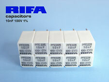 10nF -100V 1% RIFA PFE225 extended Foil Polystyrene Audio Caps !!  x 12 PIECES